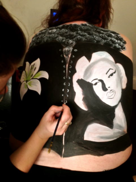 Body painting corset